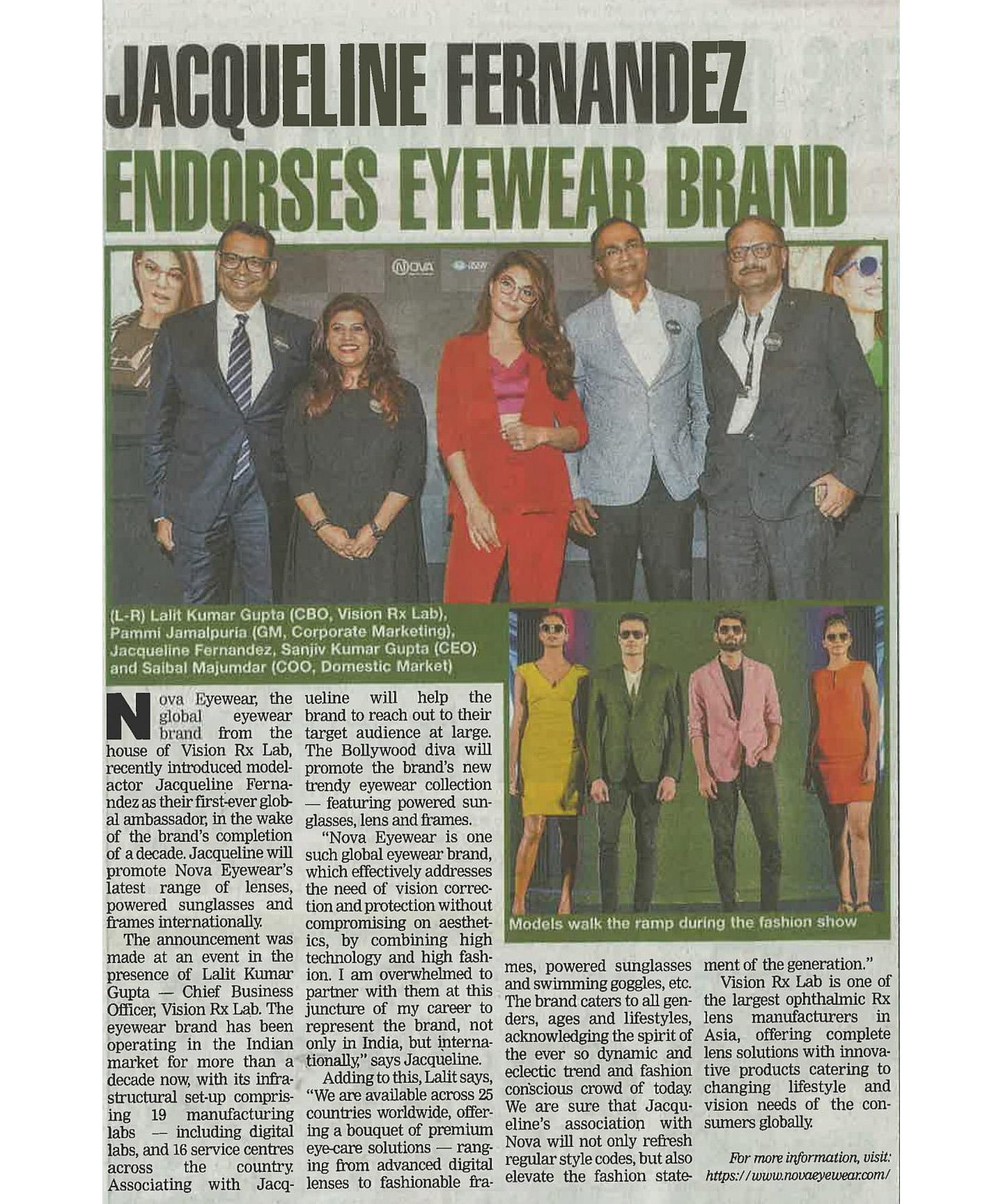 Jacqueline goes global with eyewear brand